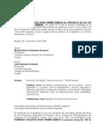Ponencia Primer Debate NEGATIVA Ley 100-08 (facultades Reformar Cancilleria)
