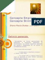Concepte Empirice Si Concepte Stiintifice