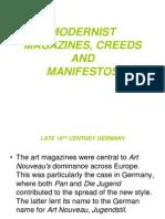 Modernist Magazines and Manifestos