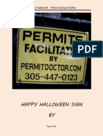 Miami Beach Permit Doctor's Happy Halloween Sign