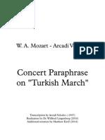 Concert Paraphrase on Tukish March Score Revision