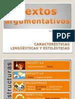 Características Lingüísticas y Estilísticas Textos Argumentativos