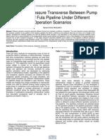 Analysis of Pressure Transverse Between Pump Stations of Fula Pipeline Under Different Operation Scenarios