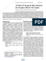 Bacteriological Profile of Surgical Site Infection in Orthopedic Surgery About 142 Cases