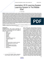 Coherent Implementation of E Learning System With Natural Learning System in the Middle East