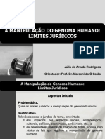 A MANIPULAÇÃO DO GENOMA HUMANO - LIMITES JURÍDICOS.ppt