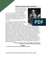 William Jennings Bryan Speaks Against Imperialism (1)