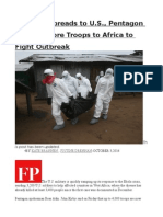 As Ebola Spreads to U.S., Pentagon Deploys More Troops to Africa to Fight Outbreak