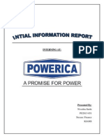 Intial Information Report(Financial analysis)