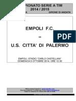 Empoli-Palermo - 6° giornata serie A.doc