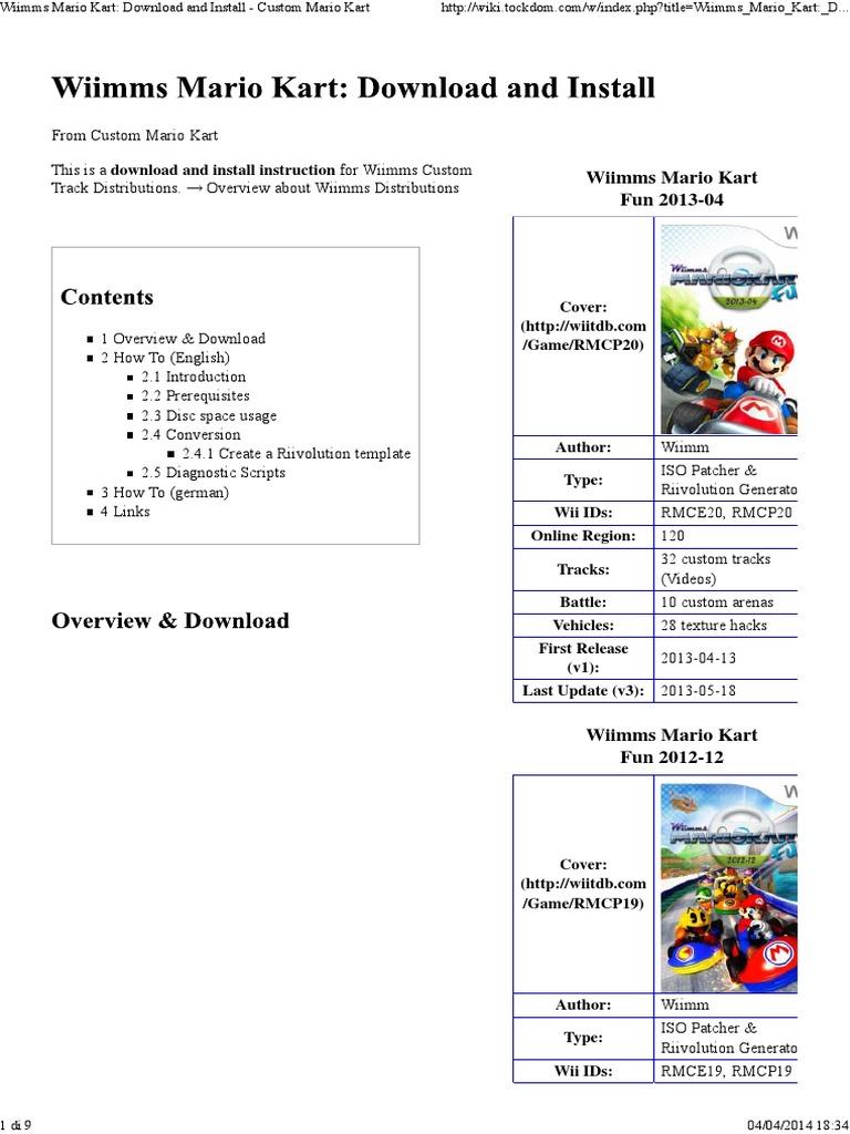 Wiimms Mario Kart Download And Install Custom Mario Kart