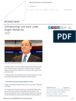 ECB Becoming 'Junk Bank' Under Draghi_ Merkel Ally