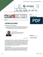 La Réforme Fiscale Au Maroc