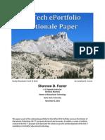 EdTech EPortfolio Rationale Paper