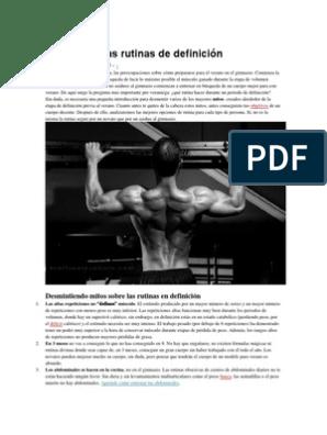 dieta para definir musculos y quemar grasa pdf