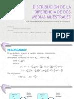 trabajo  de distribucion de dos media muestrales.pptx