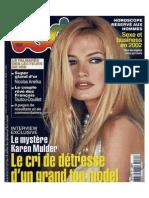 Karen Mulder VSD janvier 2002