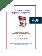 16165379 Les Secrets de La Prise de Parole Impromptue