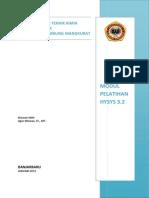 Modul Pelatihan HYSYS 3.2 Januari 2013.pdf