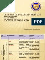 Criterios de evaluación para los estudiantes 31-01-2014.ppt