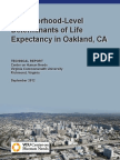 Neighborhood-Level Determinants of Life Expectancy in Oakland, CA