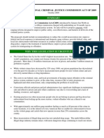Fact sheet on THE NATIONAL CRIMINAL JUSTICE COMMISSION ACT OF 2009