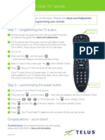 Programming Your Optik Tv Remote