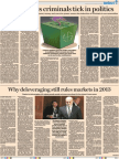 What Makes Criminals Tick in Politics Financial E#xpress 29 January, 2013