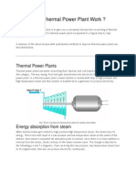 How Does a Thermal Power Plant Work