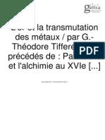 L'o et la transmutation deus metals - Theodore tifferau.pdf