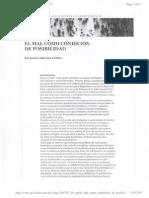 ARTICULO ANTONIO SANCHEZ - EL MAL COMO CONDICION DE POSI.pdf