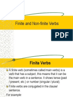 Finite and Non-finite Verbs Class