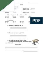 Evaluare Matematica Cl. 1
