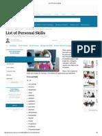 List of Personal Skills