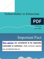 Vulnerability to Extinction