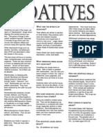 Fact sheet about Sedatives