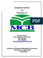Internship Report MCB-Bank Ltd