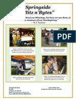 Fall 2014 issue of Springside Saskatchewan Bitz n'Bytes.
