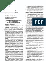 Ley Nº 29470 -Ley que modifica diversos artículos de la Ley de Elecciones Regionales
