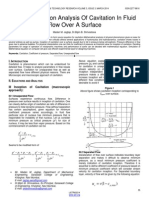 Source Equation Analysis of Cavitation in Fluid Flow Over a Surface