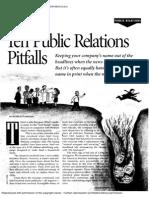 Flanagan, Public Relations Pitfalls