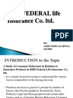 A Study of Consumer Behaviour in Relation to Insurance Products in IDBI Federal Life Insurance Co