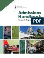 Admissions Handbook 2015