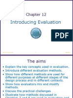 Chapter 12 - Introducing Evaluation