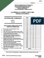 Kertas 1 Pep Akhir Tahun Ting 4 Terengganu 2004_soalan