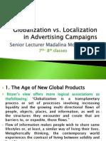 Globalization vs Localization - 7th-8th Classes