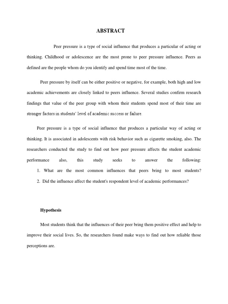 essays on positive peer pressure  essays on positive peer pressure