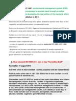 Modificari ISO 14001-2015