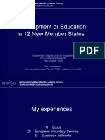 Development or Education in the 12 New EU Countries, Rilli en