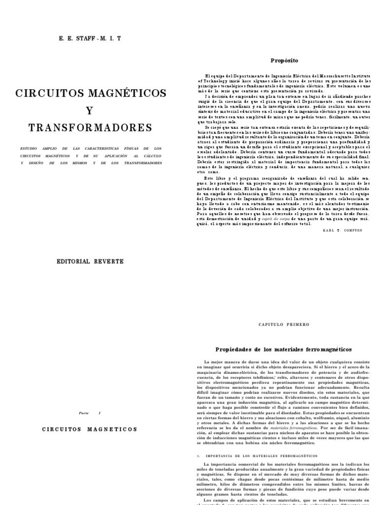 Circuitos Magneticos Y Transformadores Mit Ebook Download